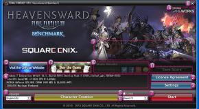 FINAL FANTASY XIV: Heavensward Benchmark